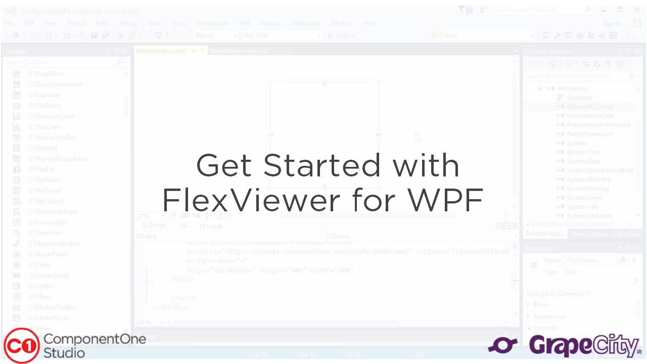 Get Started with FlexViewer WPF Report Viewer