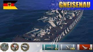 Линкор Gneisenau уничтожает 9 кораблей в режиме эпицентр | WoWS Replays