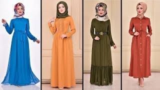 2020 Günlük Tesettür Elbise Modelleri (60  Tesettür  Elbise)