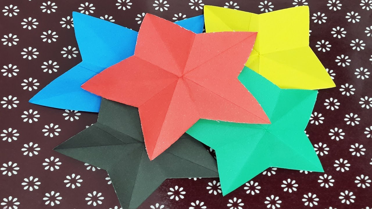 medium resolution of how to make simple 3d origami paper stars star origami diy paper rh youtube com simple 3d origami swan simple 3d origami diagram