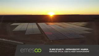 10 MW Utility scale solar PV plant operated and maintained by Emesco.