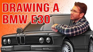 Drawing a BMW E30