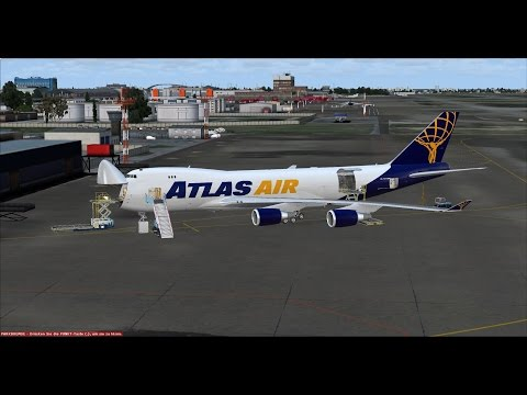 FSX | FSCloud | Moscow to Amsterdam Cargo | Boeing 747-400F Atlas Air