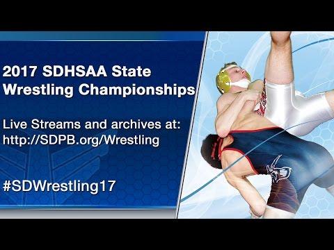 2017 SDHSAA State B Wrestling Tournament - Saturday Session 1 - Mat 6