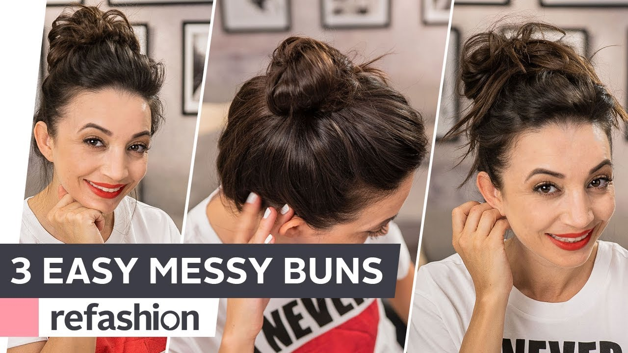 Frisuren Tutorial Top Knots Messy Bun In 3 Varianten Refashion