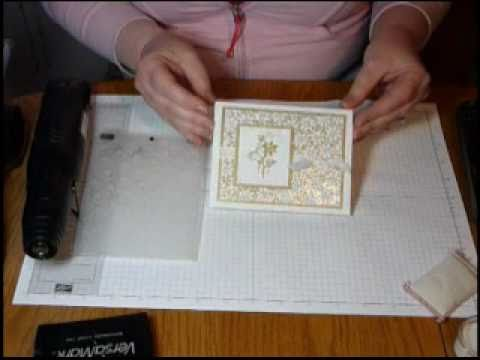 Adding Glitter with an Embossing Folder