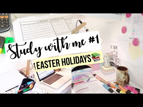 STUDY WITH ME #1 - EASTER HOLIDAY GCSE REVISION