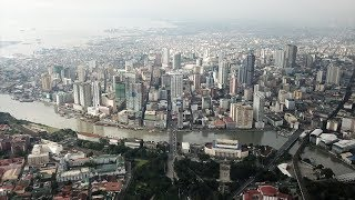 MANILA, THE PHILIPPINES [4K] AERIAL DRONE FOOTAGE