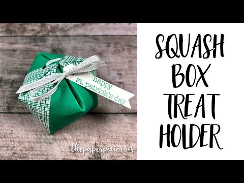 Squash Box Treat Holder