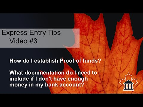 Express Entry Tips #3 - How to Prove Funds