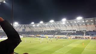 Support - Schlussphase - Abpfiff - Spitzenspiel SC Paderborn vs. 1. FC Magdeburg