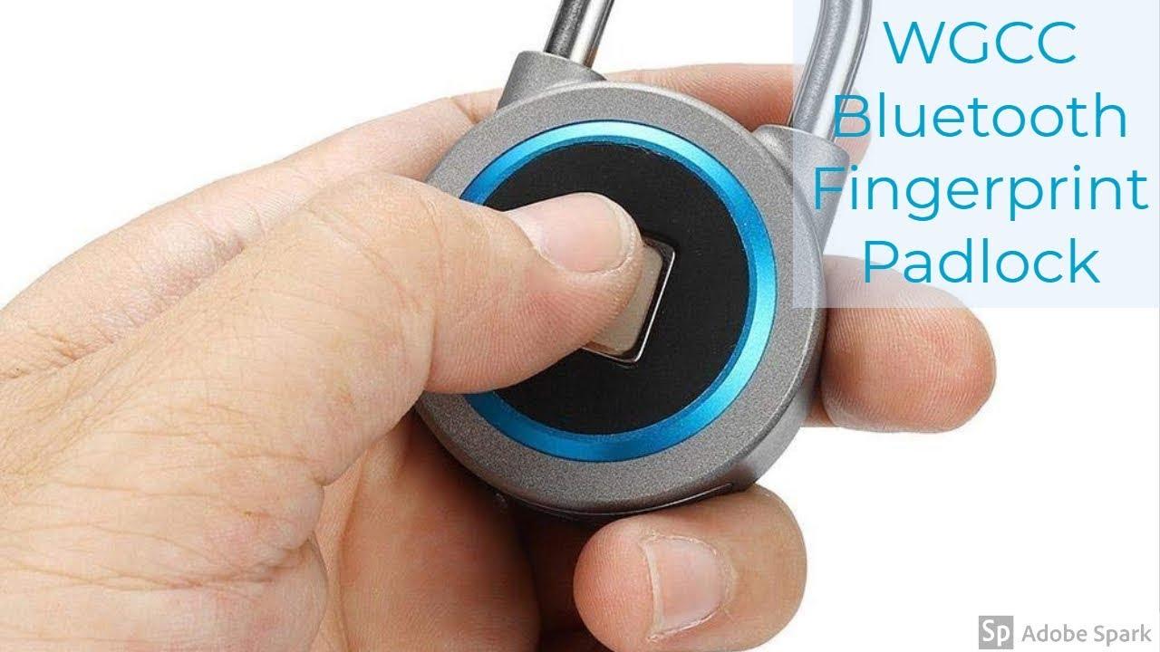 Αποτέλεσμα εικόνας για WGCC Bluetooth Connected Metal Waterproof Fingerprint Padlock