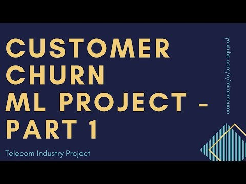 Machine Learning Project 2 | Customer Churn Telecom Industry | Python Code | Part A