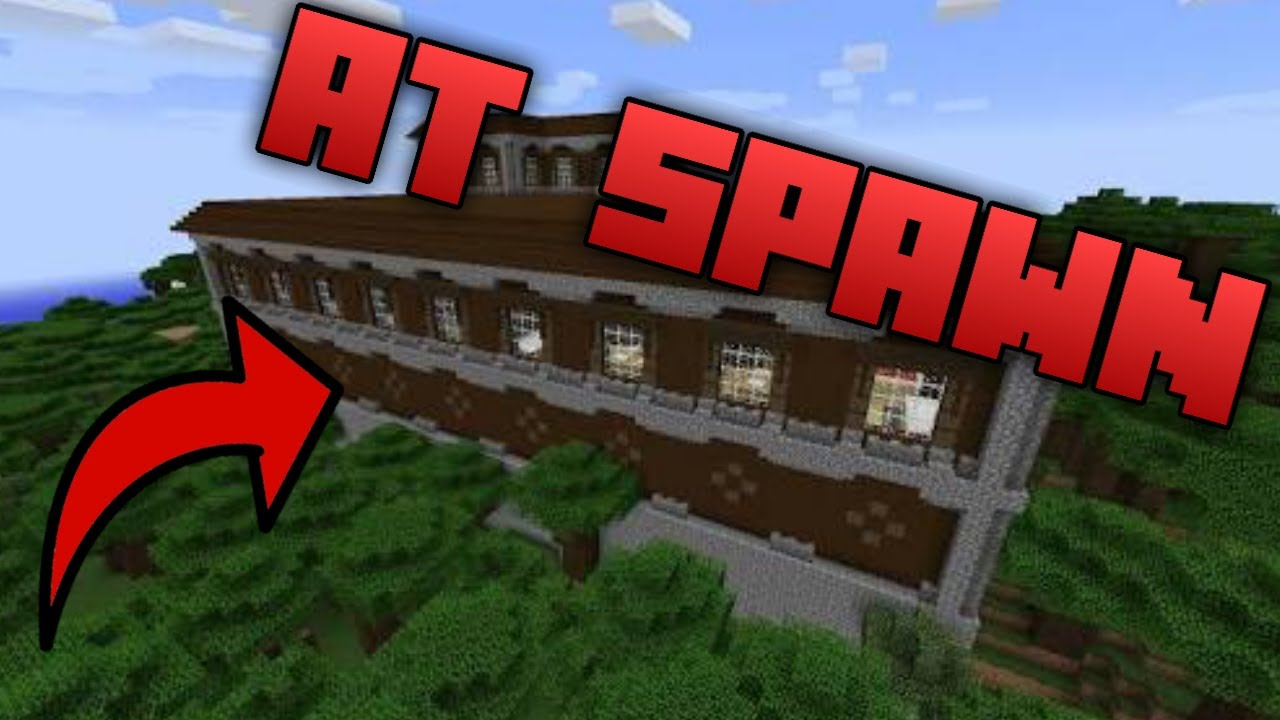 Minecraft PS11 Seed WOODLAND MANSION AT SPAWN