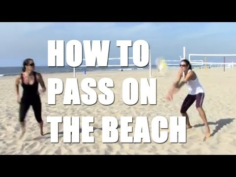 volleyball tips how to pass on the beach beach volleyball passing with holly mcpeak