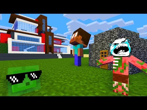 Monster School : HOUSE BUILDING CHALLENGE - Minecraft Animation