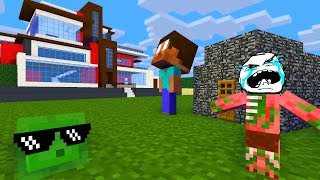Monster School : HOUSE BUILDING CHALLENGE - Minecraft Animation