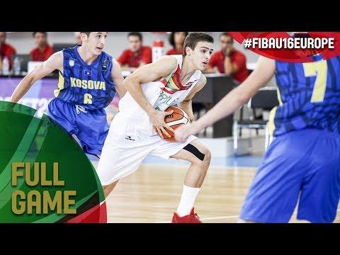 Portugal v Kosovo - Full Game - FIBA U16 European Championship 2017 - DIV B