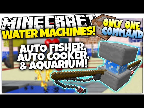 Minecraft | WATER MACHINES | Fisher, Breeder, & More | Only One Command (Minecraft Custom Command)