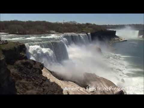 Niagara Falls USA And Canadian Sides HD Videos Horseshoe American Bridal Veil Rainbows Night Hotels