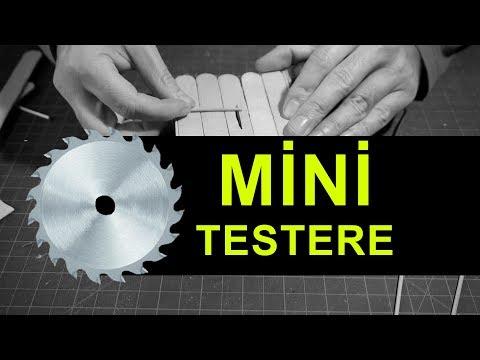 Küçük Maket İşleri İçin Mini Testere Yapımı(Diy Mini Table Saw)