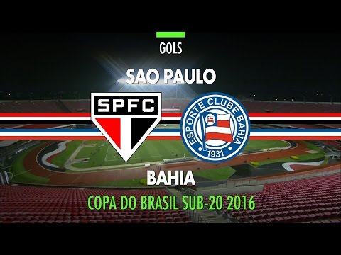 Gols - São Paulo 3 x 1 Bahia - Copa do Brasil Sub-20 - 23/11/2016