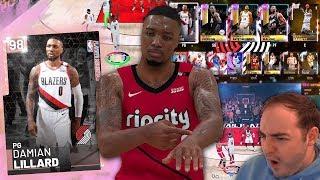 NBA 2K19 My Team PINK DIAMOND LILLARD DEBUT! SOMEONE TAKING OVER LATE OMG!!!