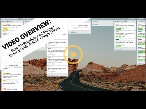 Content Calendar And System - Trello & Google Sheets
