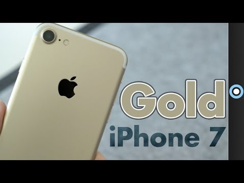 Gold IPhone 7 Unboxing & First Impressions!