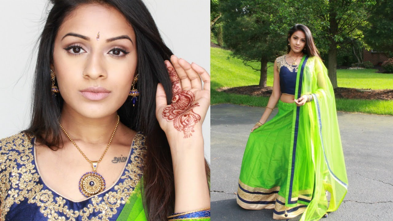 Get Ready With Me | Indian / Tamil Wedding Guest Makeup & Outfit