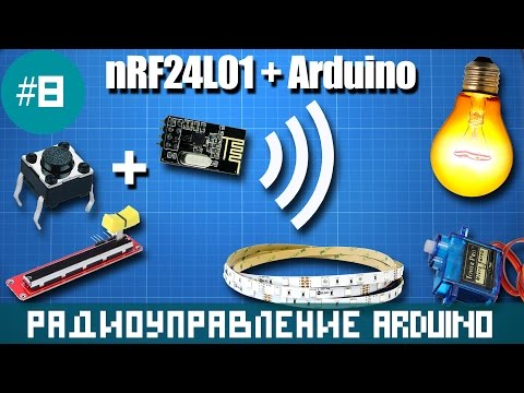 Arduino and nRF24L01. Remote control relay switch, LED strip and servo motor