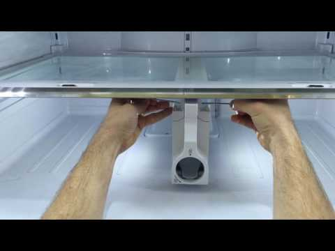 Samsung refrigerator glass shelf removal for cleaning (Model #RF31FME)