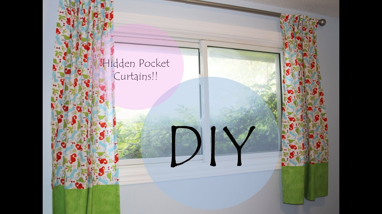 How to make rod pocket curtains - Tutorial Hidden Pocket Curtains For Bedroom