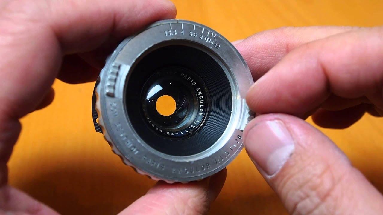 SOM Berthiot Paris Angulor 28mm F3 3 Leica L39 Screw Mount Vintage Cine  Lens, rare collectable item