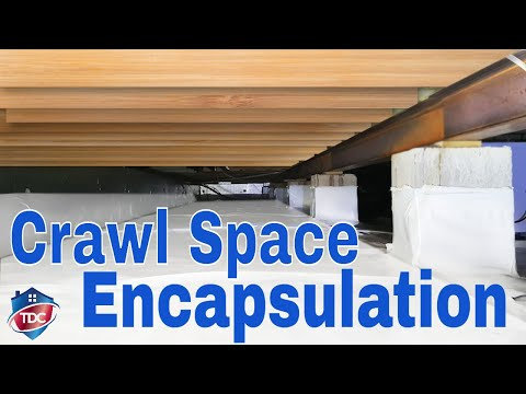 Crawl Space Encapsulation in 6 Steps | Vapor barrier, Dehumidifier, Cleaning & Repair