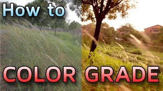 How to Color Grade Video Footage(In this tutorial I run through the basics of color grading! Intro Music by WolfsteR. http://www.youtube.com/user/xXmarksomeXx ..., 2014-09-20T10:22:27.000Z)