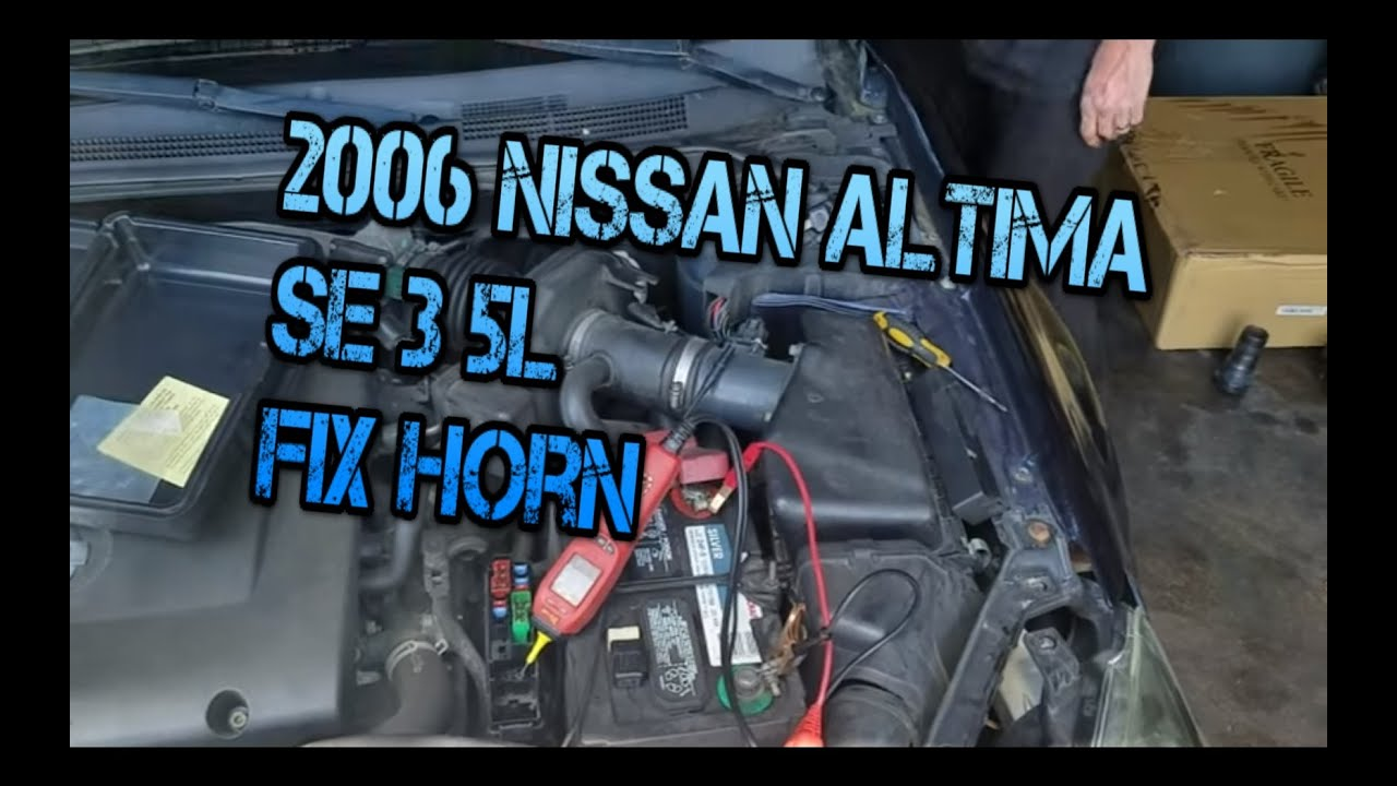 2006 Nissan Altima Se 3 5l No Horn Youtube Fuse Box Car Coopers Automotive Repair