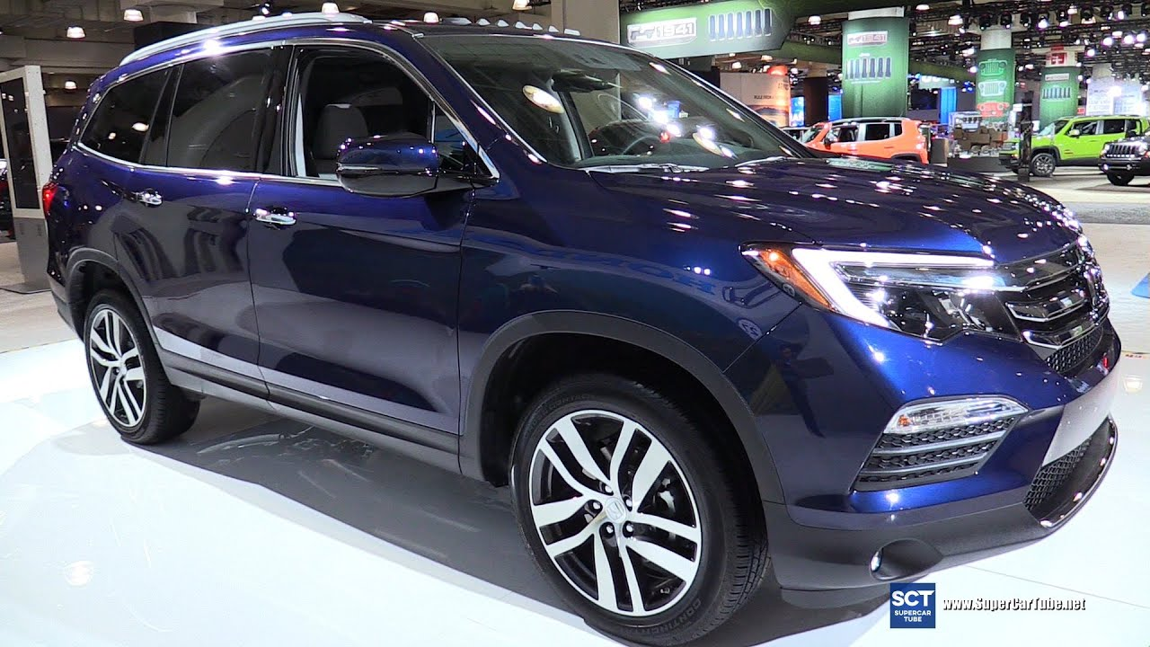 honda pilot elite awd exterior  interior walkaround   york auto show youtube