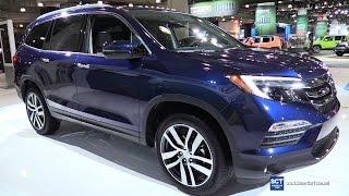 2017 Honda Pilot Elite AWD - Exterior and Interior Walkaround - 2016 New York Auto Show