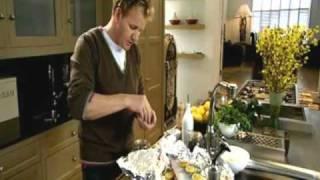 Запеченая семга с травами и карамелизированным лимоном
