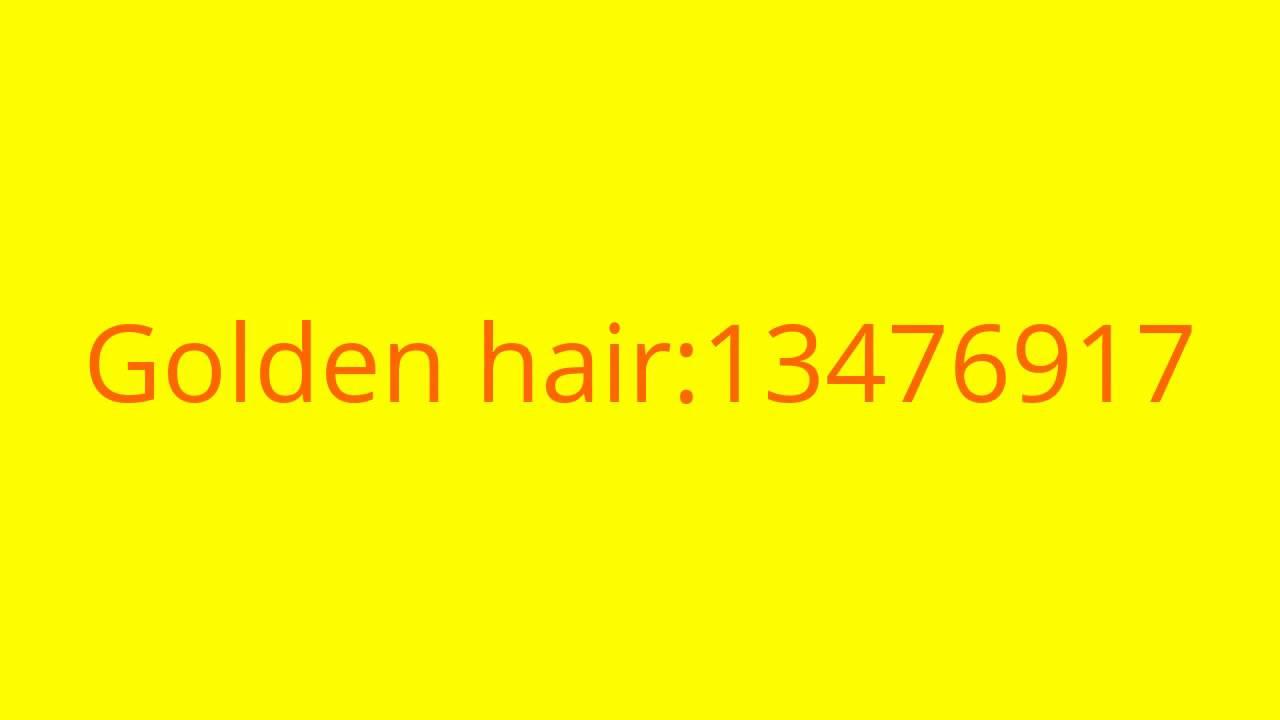 roblox hair codes boy