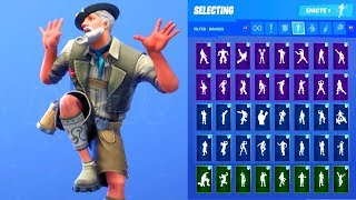 LUDWIG SKIN SHOWCASE WITH ALL FORTNITE DANCES & EMOTES