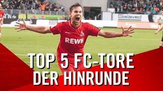Die TOP 5 TORE des 1. FC Köln aus der Hinrunde 2018/19 | Terodde | Cordoba | Schaub | Drexler