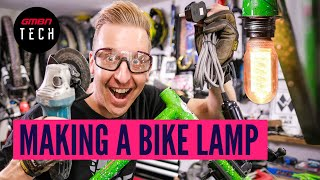 Making A Lamp Out Of A Mountain Bike Frame | MTB Upcycling