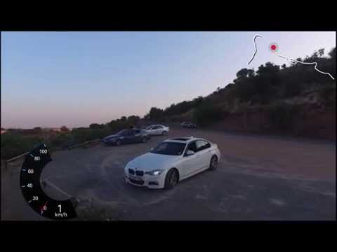 Sunday sunset drive up Klapperkop Pretoria with dji phantom 3 in a BMW 320d M-Sport with GPS overlay