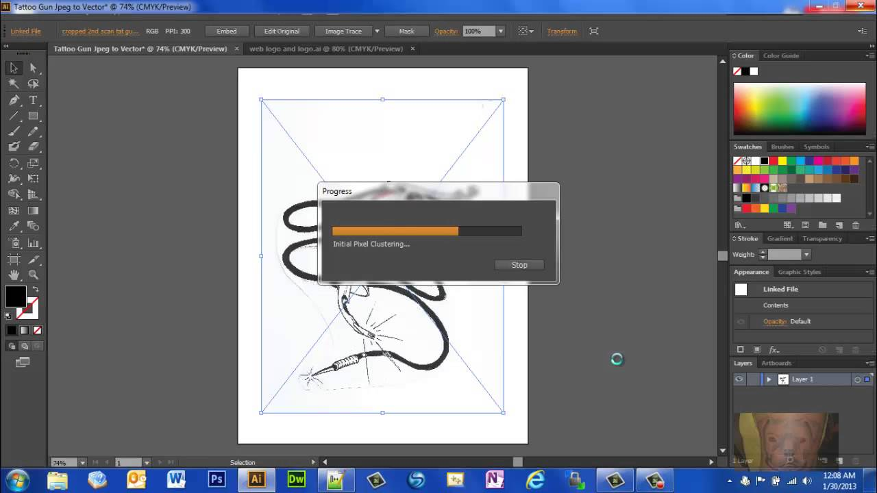 Line Art Converter Software : Turn a photo or image into vector graphic in illustrator cs6 youtube