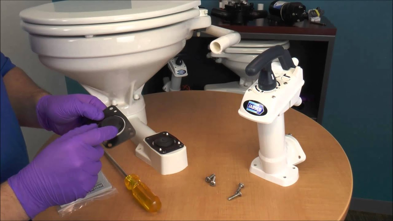 jabsco how to replace manual toilet pump assembly [ 1280 x 720 Pixel ]
