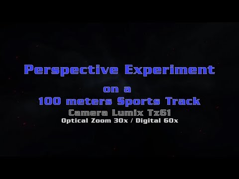Flat Earth - Perspektive Test on a 100 meters sports track - Refraction/Inversion/mirror effect thumbnail