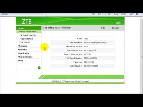 Assign Static IP to a PC through DHCP: ZTE F660 - YouTube