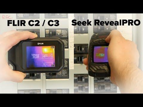 FLIR C2 / C3 vs Seek Thermal RevealPRO Thermal Camera Comparison